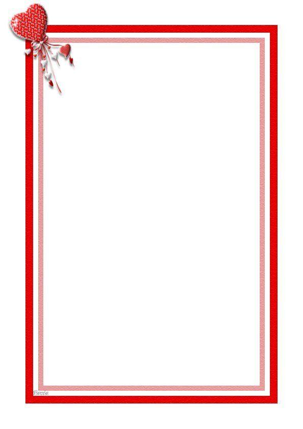 Papier a lettre decore a imprimer page 3 - Lettre saint valentin pour son cheri ...