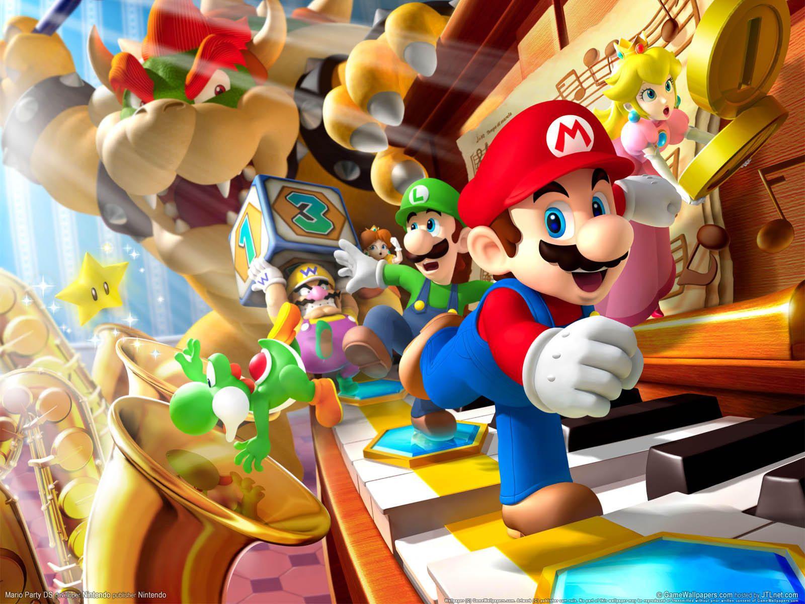 Fond Ecran Jeux Video Super Mario