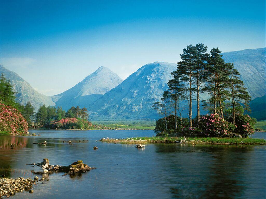 Fond Ecran Montagne Et Lac