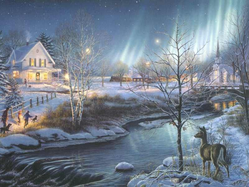 Fond ecran noel for Fond ecran gratuit hiver noel
