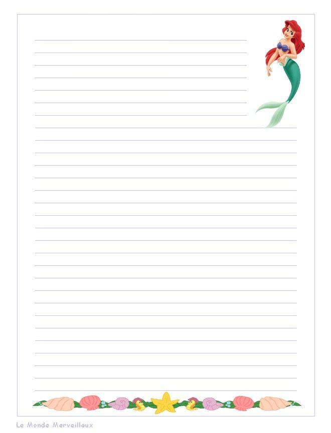 Assez Papier a lettre decore a imprimer MN65