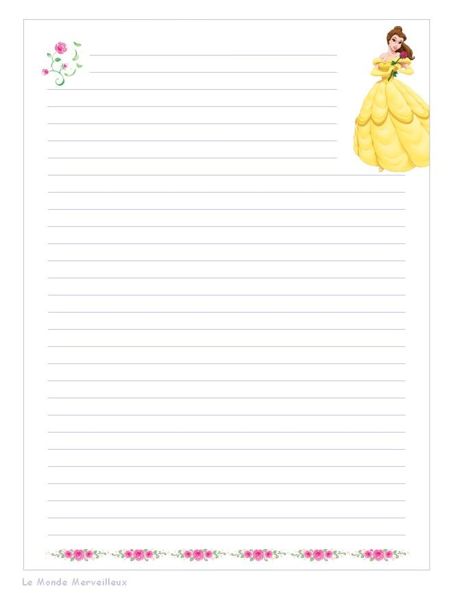 Super Papier a lettre decore a imprimer BZ92