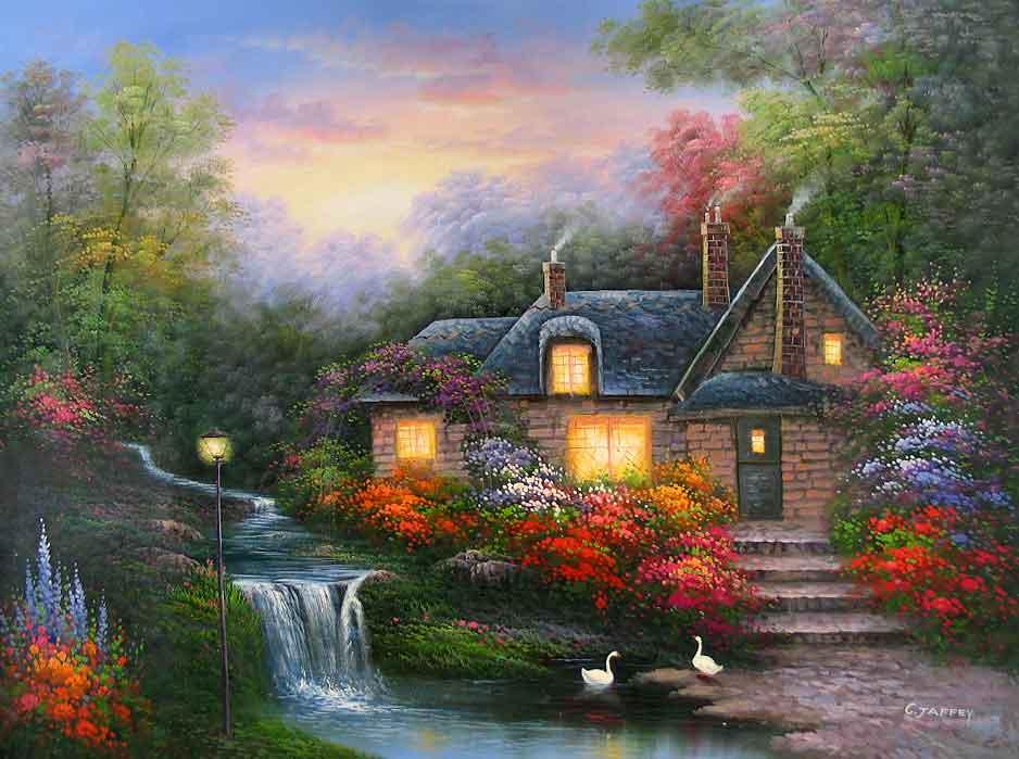 Fonds ecran paysages peints page 4 - Image a peindre gratuit ...